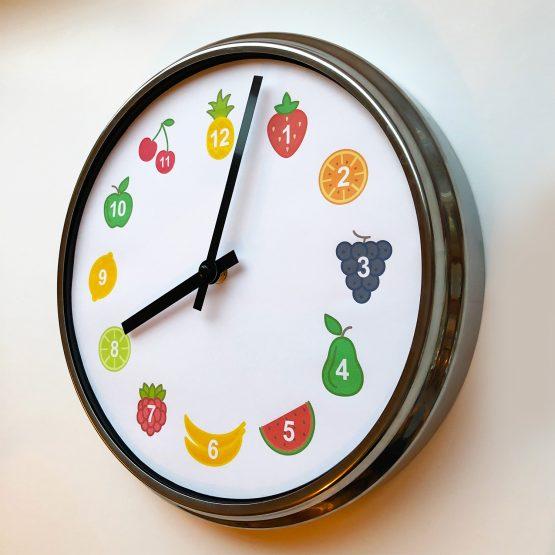 Fruit Childrens Clock amberbydesign