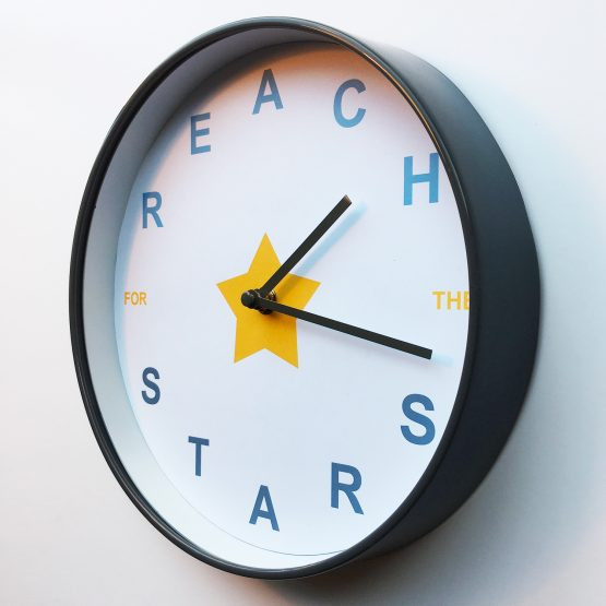 Reach For The Stars Clock amberbydesign