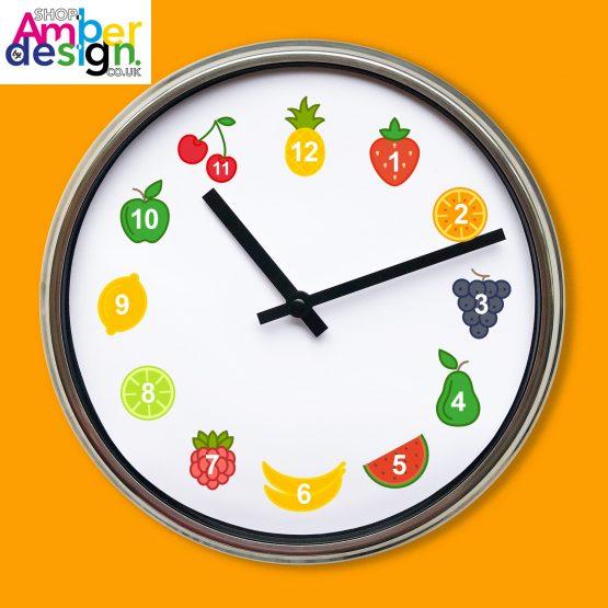 fruit clock fruity clock
