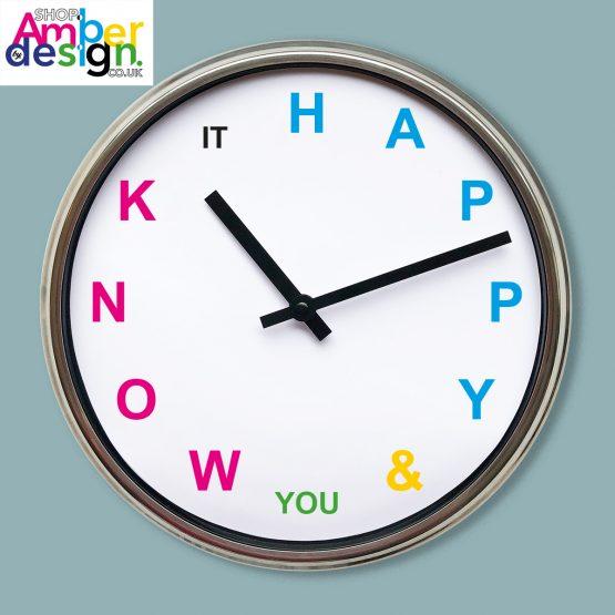 happy clock present