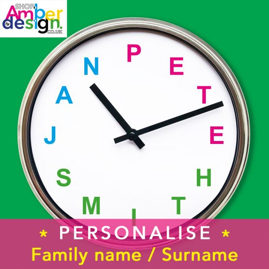 personalise personalised name clock present