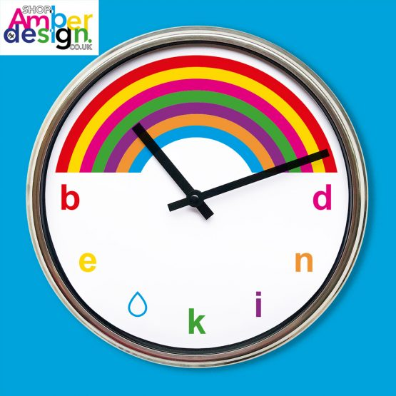 rainbow be kind clock present gift interior design