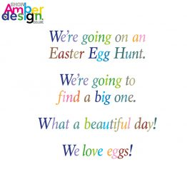 easter card - We're Going on an Easter Egg Hunt