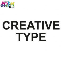 Creative Type - adult t-shirt