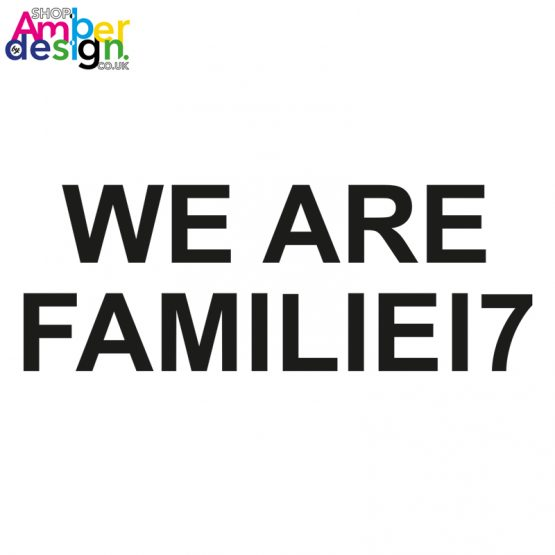 white tshirt - we are familie17