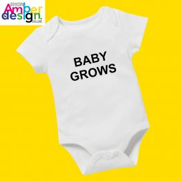 white babygrows by shop.amberbydesign.co.uk